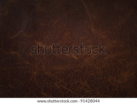 Brown leather texture closeup - stock photo