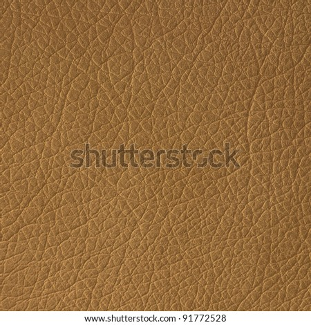 Brown leather texture closeup, useful as background - stock photo