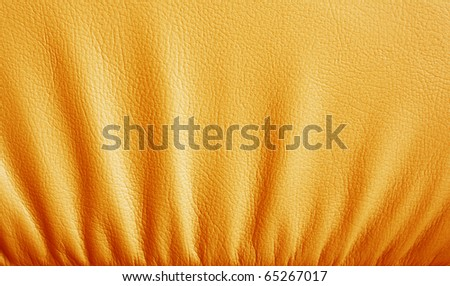 Brown leather texture designed with  stripes. closeup as background