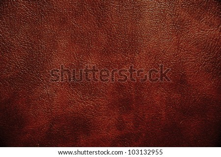 Brown leather texture. Useful as background for any design work. - stock photo