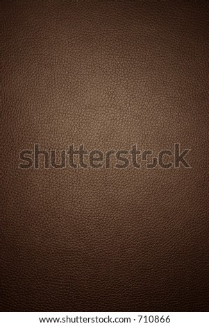 Brown leather - wide macro - stock photo