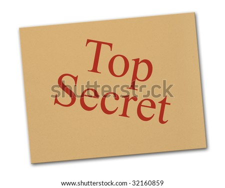 brown letter with a top secret stamp