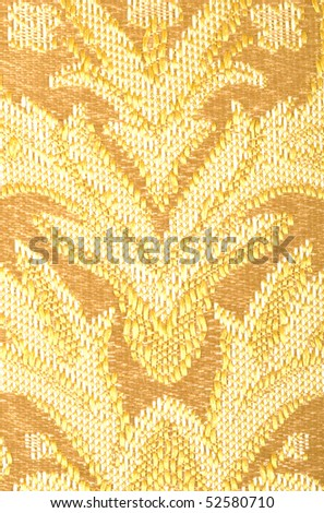 Brown linen cloth texture background close up