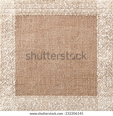 brown linen napkin texture - stock photo