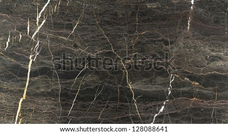 Brown Marble Granite Stone slab surface - stock photo