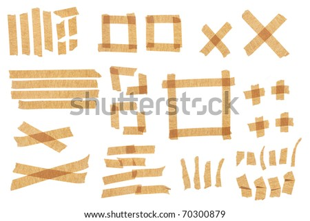Brown masking tape for designers. - stock photo