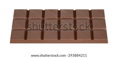 Brown milk chocolate bar - stock photo