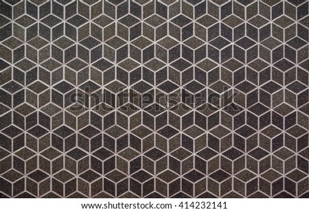 brown mosaic tiles/ background /wall decoration