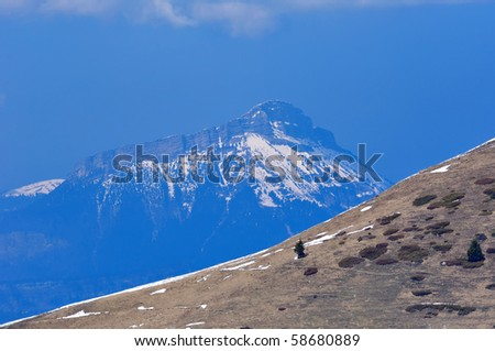 Brown Moutain - stock photo