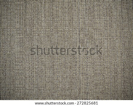 Brown natural fabric texture background - stock photo