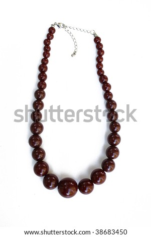 Brown necklace - stock photo