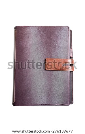 brown note book - stock photo