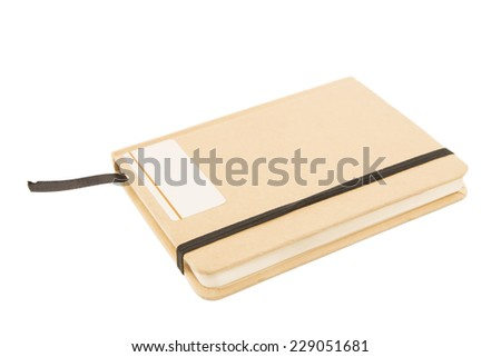 Brown notebook isolated