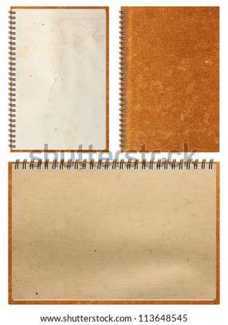 Brown Notebook paper, isolated on white background (Save Paths For design work)