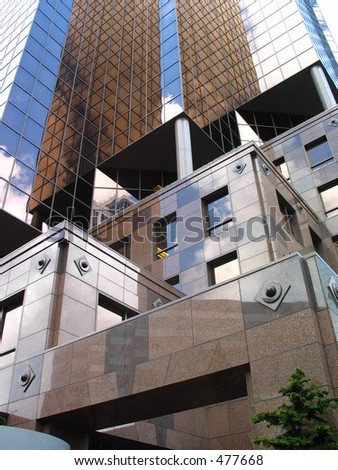 Brown Office Building - stock photo
