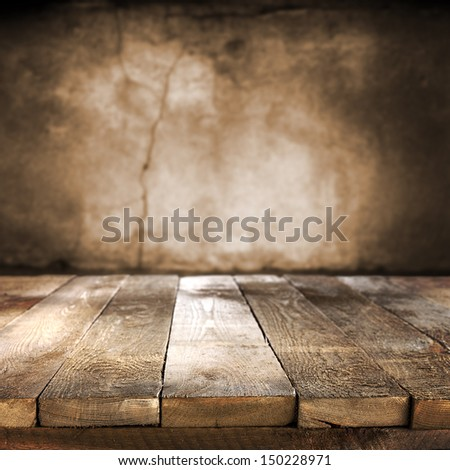 brown old table  - stock photo