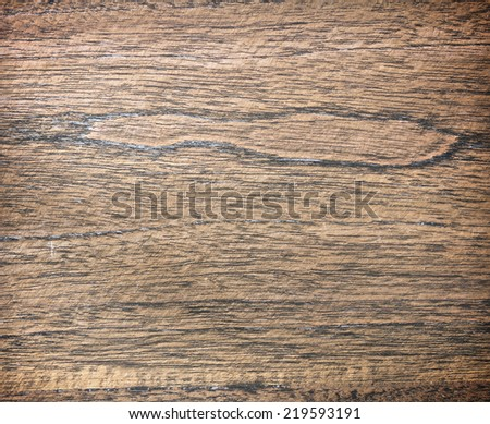 Brown old wooden wall white board surface.
