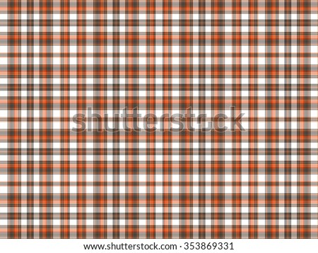 Brown, orange, and white plaid background