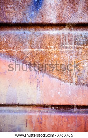 Brown, Orange, Red Grunge Background - stock photo
