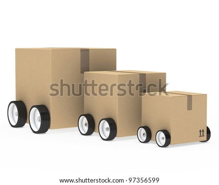 brown package car from small too big