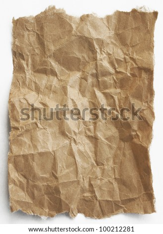Brown paper - stock photo