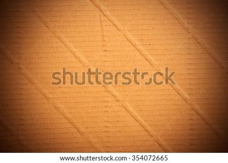 Brown paper background vignette - stock photo
