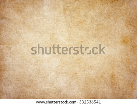 Brown paper background. Vintage background - stock photo