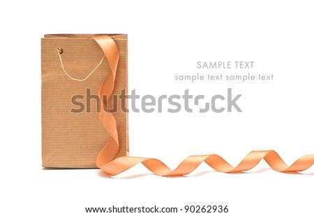 brown paper bag - stock photo