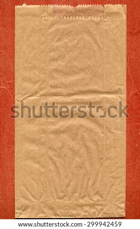 Brown paper bag for food such as vegetables and bread - stock photo
