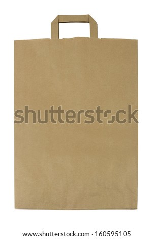Brown Paper Bag isolated on White Background