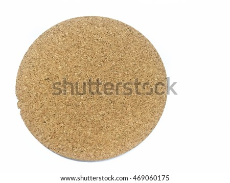 brown paper circle tag on white background