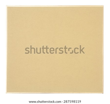 Brown paper frame