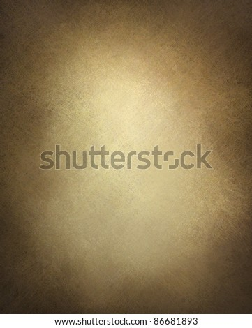 brown paper or brown background illustration with old vintage texture and darker black grunge border with faded white center, brown parchment paper - stock photo