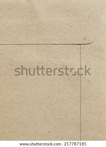 Brown paper sheet - stock photo