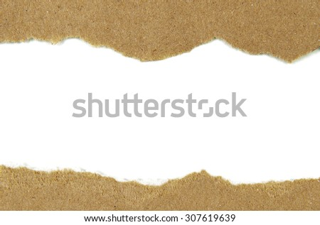 Brown paper torn Design - stock photo