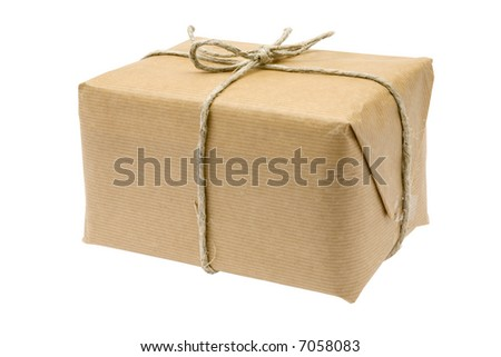 Brown Parcel - stock photo