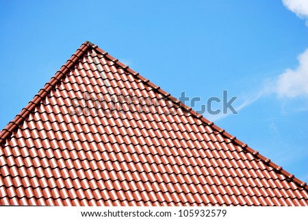 brown peaked roof