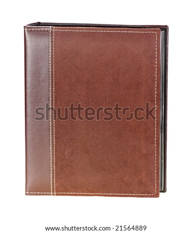 Brown photo album isolated on a white background