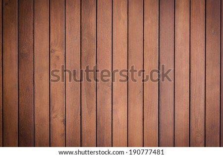 brown plank wood wall background - stock photo