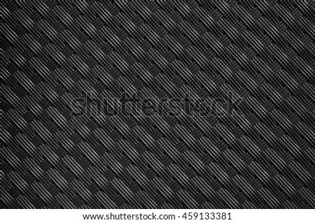 Brown plastic weave for closeup textured background - stock photo