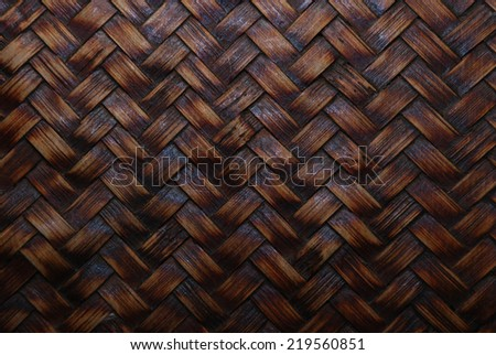 brown rattan texture background with natural patterns - stock photo