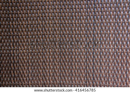 Brown rattan weave for closeup textured background