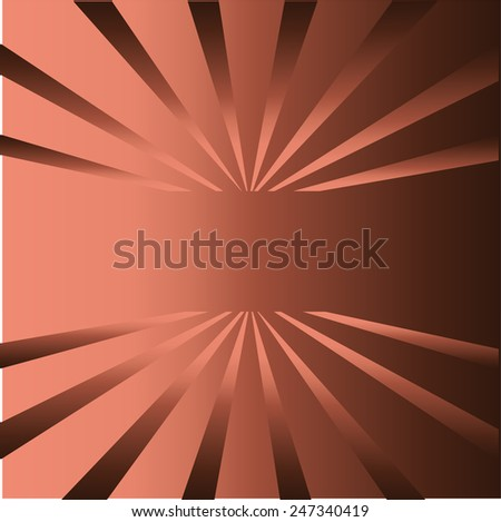 Brown rays background with place for your text  template - stock photo