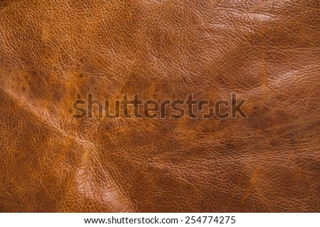 Brown Real Leather for Concept and Idea Style of Fine Leather Crafting, Handmade Leather handcrafted, Background Textured and Wallpaper. - stock photo