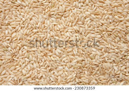brown rice texture - stock photo