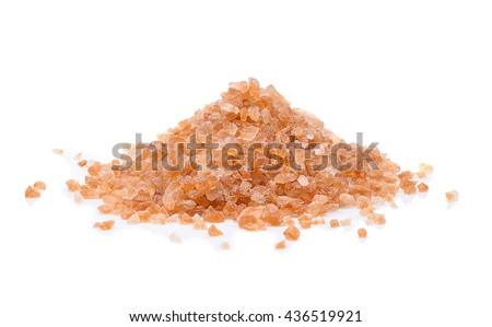 Brown rock sugar isolate on white background