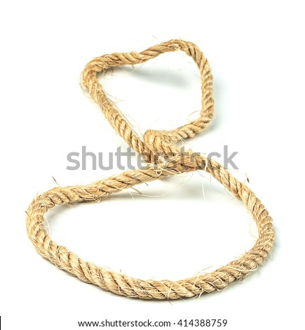 Brown Rope on isolated white background