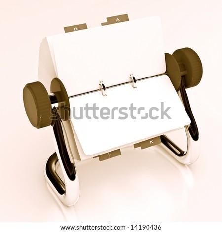 Brown rotary card 3 - stock photo
