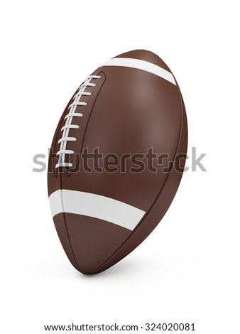 Brown Rugby Ball isolated on white background. Sport and Recreation Concept