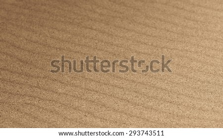 Brown sand ripples for background, selective focus - stock photo